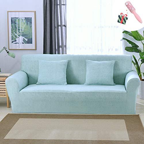 Funda Sofá Universal Estiramiento, Morbuy Color Sólido Cubierta de Cubre Sofá Funda Llanura Furniture Protector Antideslizante Elastic Soft Sofa Couch Cover (1 plazas,Azul Aguamarina)