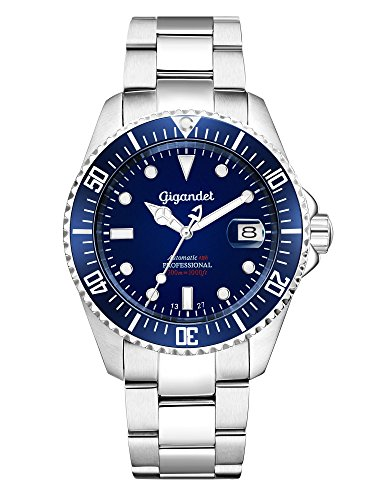 Gigandet Sea Ground Orologio Subacqueo Automatico Analogico Uomo Blu...