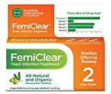 FemiClear 2-Day Yeast Infection Treatment | All-Natural & Organic Ingredients | Ointment + External Itch Relief Ointment | Womens Health |Vaginal Health