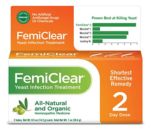 FemiClear 2-Day Yeast Infection Treatment | All-Natural & Organic Ingredients | Ointment + External Itch Relief Ointment | Women's Health |Vaginal Health
