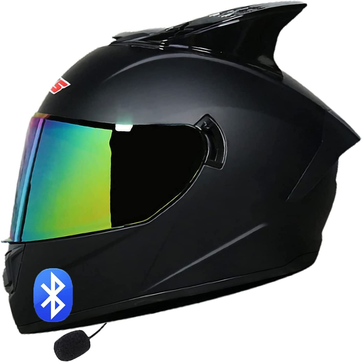 sale QJWM Motorbike Full Face Helmet DOT Approved Bluetooth Shipping included ECE Integ