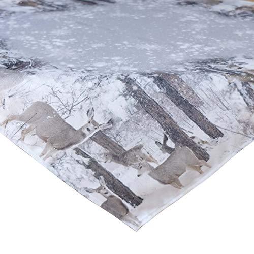 Kamaca Serie Rehe im Winter hochwertiges Druck-Motiv - EIN Schmuckstück in Winter Weihnachten (Tischdecke 85x85 cm)