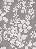 Zoom IMG-1 tovaglia rettangolare flower grigio 140x180