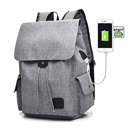 Lpiotyubeib Mochila, Niñas Schoolbag, USB, Mochila Gravid Capacidad, Mochilas, Mochilas for portátiles, Mochilas (Color : Grey)