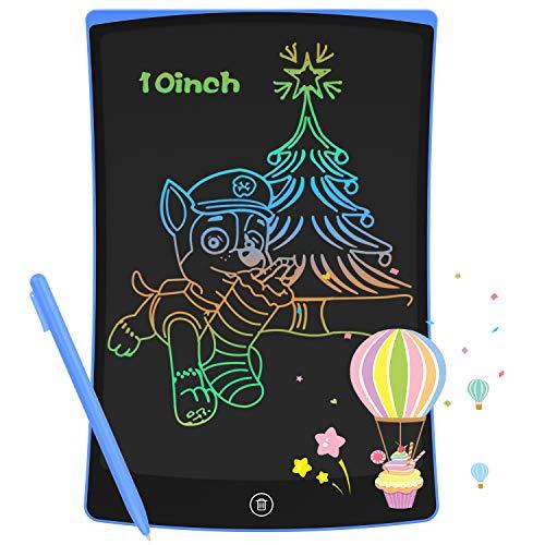 GUYUCOM Tableta de Escritura LCD de 10 Pulgadas,Pizarra Digital para Niños,Universal para Ambas Manos, Pizarra Magica de Líneas Brillantes y Coloridas,Excelentes Tablet Dibujo para Niños y Niñ