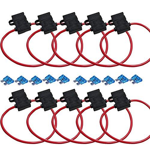 Mintice™ 10 X véhicule automobile de calibre 10 porte ATC Fusible In-Line cuivre fil awg boîte de lame de 12 volts