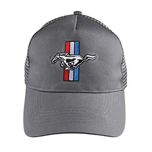 Ford Mustang Logo Cap El Snapback Sombrero, Gris Grafito, Taille Unique para Hombre