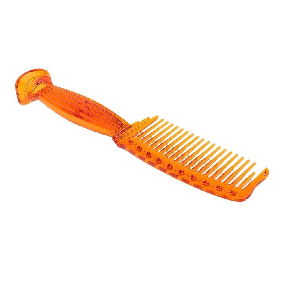 居眠りする切断する褒賞SM SunniMix ヘアコーム ヘアブラシ ワイド歯 プラスチック プロ ヘアサロン 理髪師 全5色選べ - オレンジ