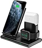 Hoidokly Wireless Charger 3 in 1 Charging Station Dock for Apple Watch Series 6/SE/5/4/3/2, Airpods Pro/2/1, 7.5W Qi Fast Wireless Charging Stand for iPhone 12 Series/11 Pro/11 Pro Max/XR/XS/X/8 Plus