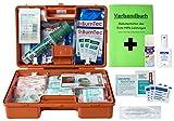 Erste-Hilfe-Koffer M4+ Gastro für Betriebe DIN/EN 13157 inkl. Augenspülung + Brandgel + detektierbare Pflaster + Hydrogelverbände + Sprühpflaster + Hygiene-Ausstattung