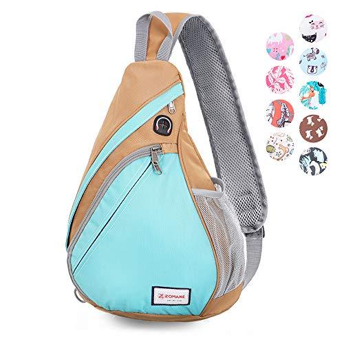 ZOMAKE Sling Bag, Water Resistant Sling Backpack Purse Crossbody Bags for Women Men Travel