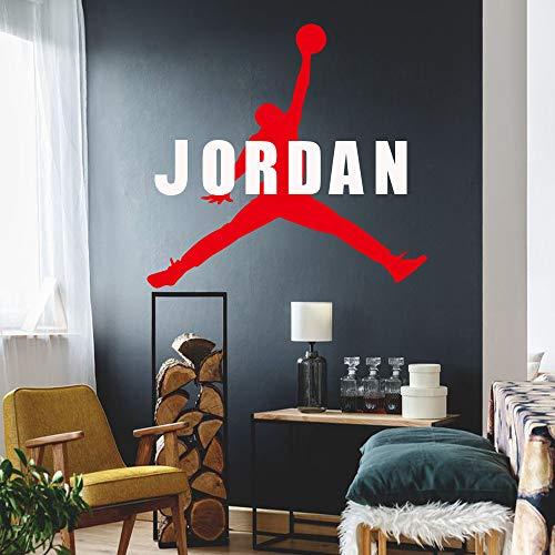 zxddzl Michael Jordan Vinyl Wandaufkleber Just Do It Wandtattoos Für Haus Dekoration Schlafzimmer Dekor Tapete Jordan Poster 3 110 * 110 cm