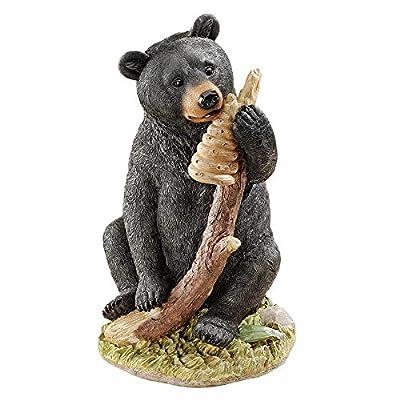 Design Toscano Black Honey the Curious Bear Cub Statue,full color