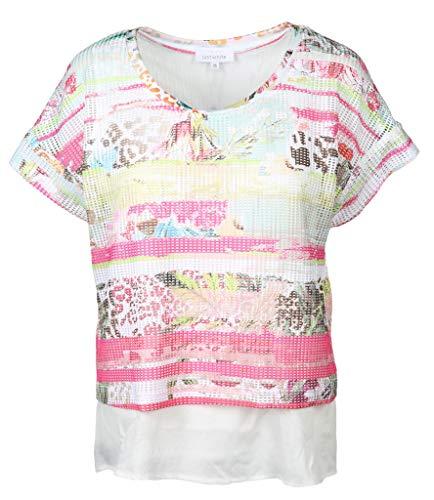Just White Damen Bluse Größe 42 EU Mehrfarbig (bunt)