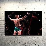 Conor Mcgregor - Irish MMA UFC Featherweight Champion Art Poster Boxing Picture Room Decor Print en Lienzo -60x80CM sin Marco