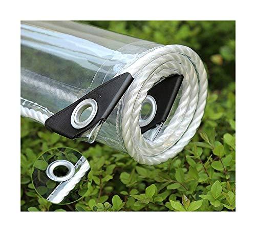 Vidrio claro lona impermeable de plástico de PVC impermeable de tela a prueba de polvo de efecto invernadero en frío Protección de metal del agujero del anillo exterior espaciado 50CM Toldo Clear Tarp