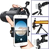 Megadream Cell Phone Adapter Mount, Compatible with Binocular Monocular Spotting Scope Microscope Telescope and Microscope for Universal iPhone X 8 Plus 8 7 Samsung Galaxy S8+ S8 S7 Note LG HTC Sony