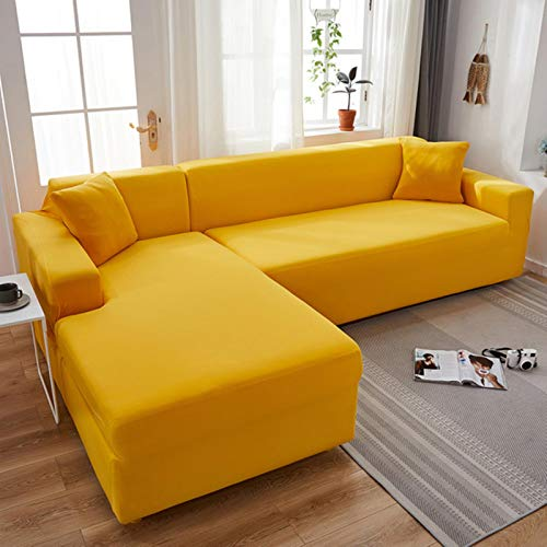 GoGOO Sofa Cover Stretch Grey Elastic Sofa Slipcover for Living Room Couch Covers Sectional funda sofa chaise lounge Plain Pattern