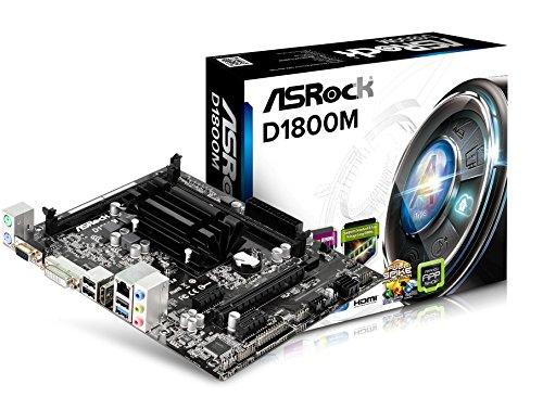 ASRock D1800M Mainboard Sockel (micro-ATX, 2x DDR3 Speicher, SATA III, 3x USB 2.0)
