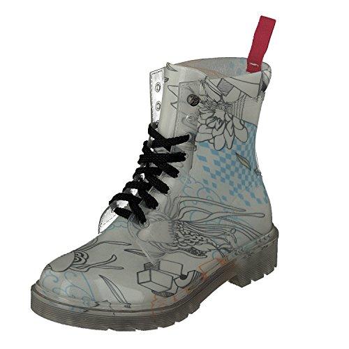 GOSCH SHOES Damen Boots Schuhe Stiefel Transparent 7105-155-8 PVC in Blau (39)