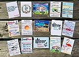 Postkarten Set 15 Stück AnneSvea postcard Urlaubsgrüße Camper Bus Wohnmobil Wohnwagen Van Deko Adventskalender Befüllung Meer Flamingo