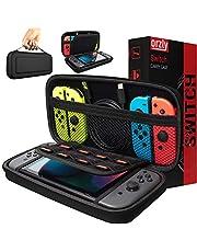 Orzly Draagtas compatibel met Nintendo Switch – opbergtas / - harde schaal case / cover / hoes / beschermhoes voor gebruik met de Nintendo Switch console & accessoires in zwart.