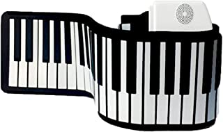 61 Key 88 Key Electronic Keyboard Hand Rolled Piano Silicone Piano Foldable Portable Beginners Musical Instruments (Color ...