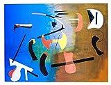 1art1 Joan Miró - Komposition Poster Kunstdruck 80 x 60 cm