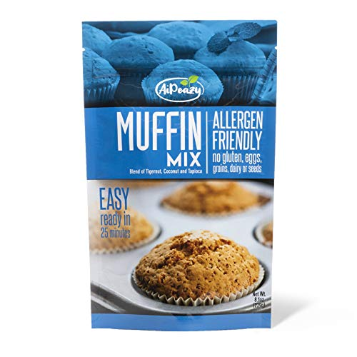 AiPeazy - Muffin Mix - Blend of Tigernut, Coconut and Tapioca - Gluten, Egg, Dairy, Grain Free