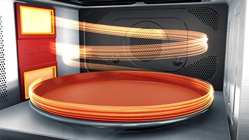 Whirlpool MWP 337 SB Forno a Microonde Supreme Chef + Grill, 33 litri, H 37,3 x L 49 x P 49,5 cm, Nero e Argento, con double steamer, griglia alta, piatto Crisp +maniglia