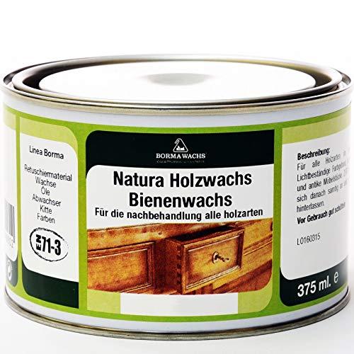 Natura Holzwachs Bienenwachs Möbelwachs Antikmöbel Wachs EN71-3 (Antik-Kolonialbraun - 46)