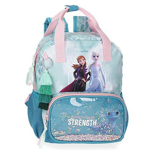 Frozen Mochila Find Your Strenght Preescolar, 23x28x10 cm, Azul