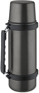 Isosteel VA-9553QAT 34 fl. oz. Double Walled Vacuum Flask with Isulating Plastic Drinking Mug and...