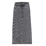 ESPRIT Maternity Damen Skirt Jersey Long Utb AOP Rock, Mehrfarbig (Night Blue 486), 38 (Herstellergröße: M)