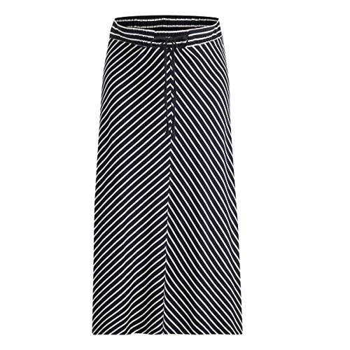 ESPRIT Maternity Damen Skirt Jersey Long Utb AOP Rock, Mehrfarbig (Night Blue 486), 36 (Herstellergröße: S)