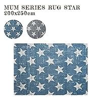 ラグ MUM RUG STAR 200x250cm ラグ 絨毯 じゅうたん カーペット スターLBL
