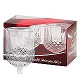 Ner Mitzvah Neironim - Portavelas de Cristal (2 Unidades), Transparente, tamaño estándar para decoración de Fiestas, canujes y Hadas