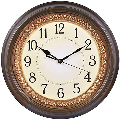 AWCVB Reloj De Estilo Europeo Reloj De Luz De Cuarzo Reloj De Cuarzo Movimiento De Vida