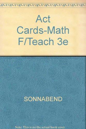 Mathematics for Teachers: an Interactive Approach for Grades K-8 Activity Cards