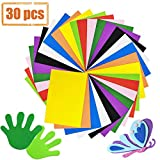 30 Pcs Colorful EVA Foam Sheets Assorted Rainbow Colors Craft Foam Sheets,Foam Handicraft Sheets for Arts and...
