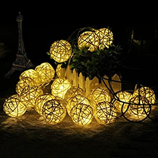 FOU Globe String Lights Battery Operated 5Ft 10 LED Warm White Fairy Light for Indoor,Bedroom,Curtain,Patio,Lawn,Landscape,Fairy