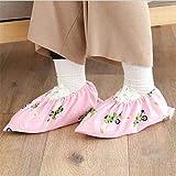 XMYBN Botas de Lluvia 1Pair Cubiertas De Zapatos Reutilizables No Impermeables para El Hogar Conjuntos De Interior De Zapatos Sitio De Estudiante Flamingo Pie A Prueba De Polvo Cubiertas-Dinosaur