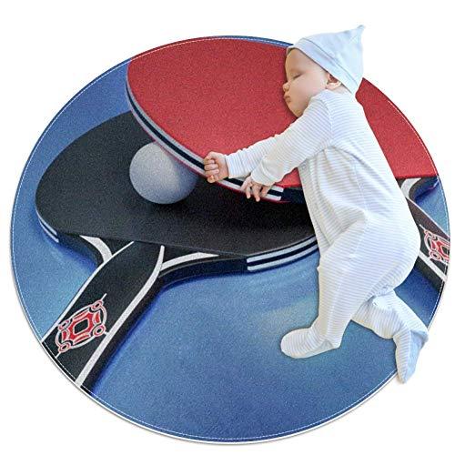Yuzheng Tennis da Tavolo Tappetino da Esterno Rotondo Tappeti e tappetini Tappetino da Gioco per Bambini Antiscivolo Seggiolone Splat Circular Home Decorator Soft appeti 100x100cm