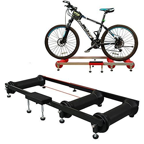 NAINAIWANG Rodillo de Rulos para Bicicleta Ciclismo parabólico Entrenador Aluminio Ajustable Interior Fitness Ciclismo parabólico Entrenador para Interior Bicicleta Bicicleta Entrenador