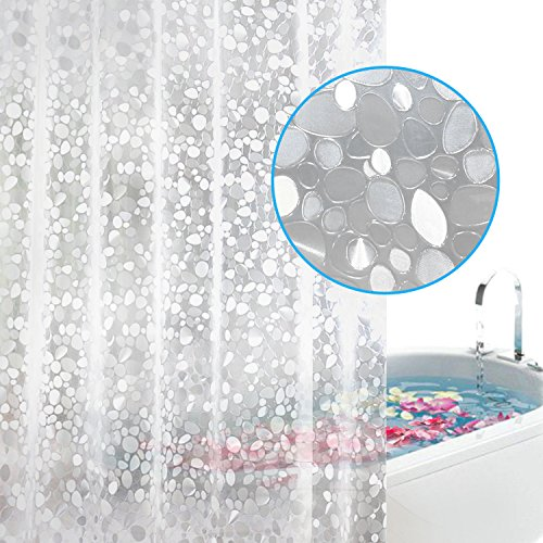 Feagar EVA Shower Curtain Liner with Magnets & 12 Free Metal...