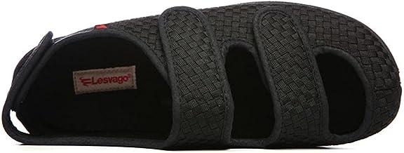 Verstelbare Oedeem Schoenen Dames Extra Breed,Verbredende schoenen met klittenband, comfortabele draagbare diabetische sch...