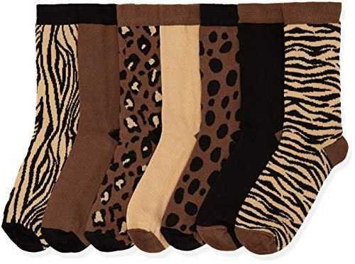 Marca Amazon - find. Calcetines Mujer, Marrón (Brown), 39-