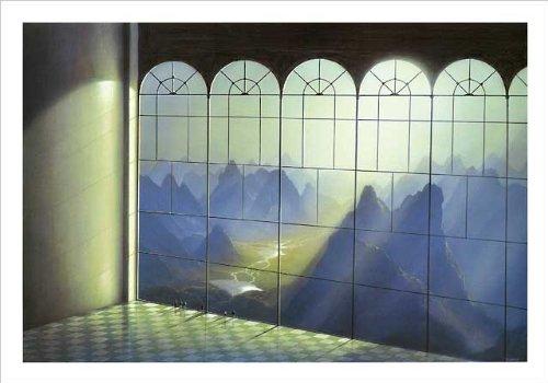 Kunstdruck/Poster: Hans-Werner SAHM Belvedere - hochwertiger Druck, Bild, Kunstposter, 50x40 cm
