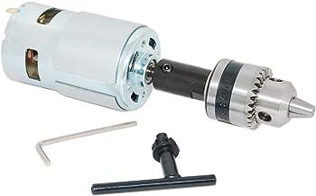 DC Motor 775 12V/24V Gear Motor Mini Sierra de Mesa para Corte de Madera con Mini Taladro Eléctrico para Piezas DIY