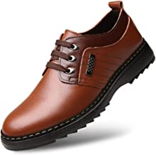 Men's Lace Up Oxfords Classic Modern Round Toe Formal Leather Dress Shoes Men